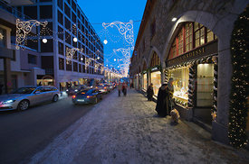 Evening Shopping in Saint St. Moritz