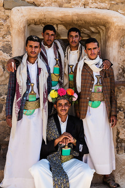 Yemeni Men after a Wedding