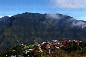 View over town of Coroico , Bolivia