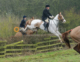 Martin Reason jumping a hedge at Town Park Farm