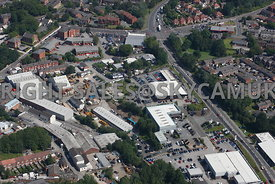 Stockport aerial photograph of an industrial area bounded by Waterloo road and Joules Court and Spring Gardens and St Marys Way Stockport