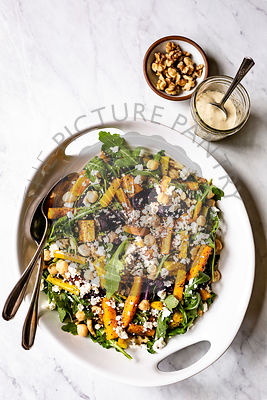 Roasted Carrot and Arugula Salad