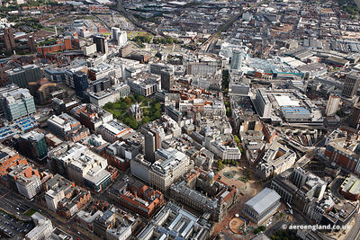 aerial photograph of Birmingham City Centre England UK