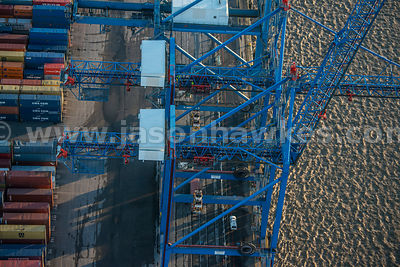 Aerial view of the Port of Tilbury, Essex