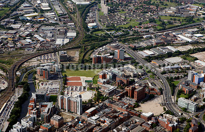 aerial photograph of  Brewery Wharf  and vicinity in Leeds