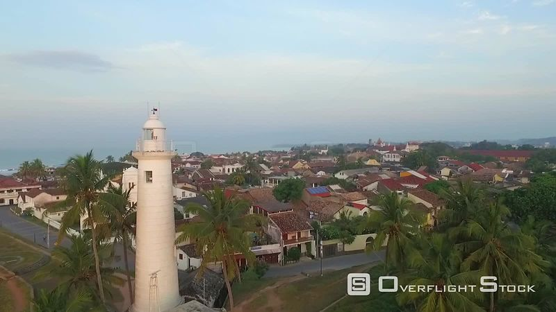 Galle Lighthouse Sri Lanka Drone Video