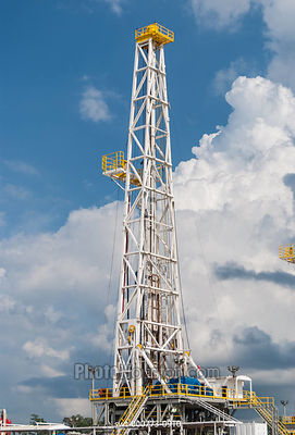 Oil Derrick drilling for petroleum