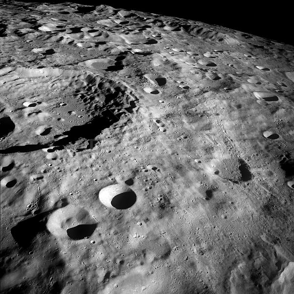21-27 Dec. 1968) --- This Apollo 8 view of the lunar surface