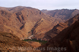 Taking the loop trail around Todra Gorge down to Tizgui,  High Atlas, Morocco, Landscape