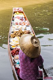 Typical boat at Damnoen Saduak floating market