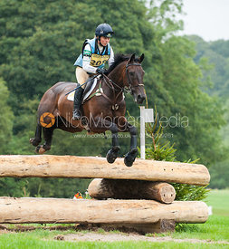 Kitty King and PERSIMMON - cross country - CIC** - Somerford Park (2) Horse Trials 19/8/12