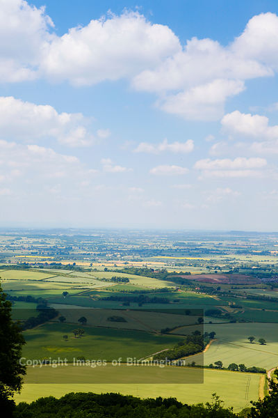 View from the top of The Wrekin, Telford, Shropshire.