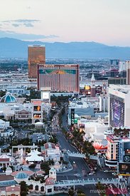 The Strip at dusk, Las Begas, Nevada, USA
