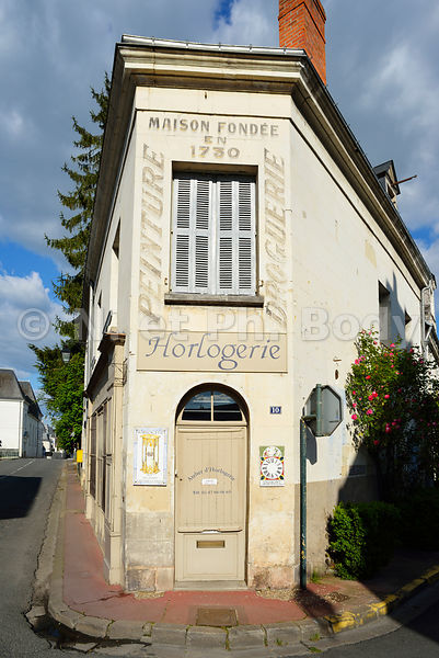 France, Indre et Loire (37), Loches, maison traditionnelle//France, Indre et Loire, Loches, traditional house