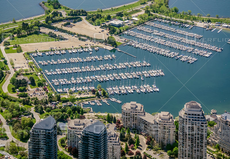 Downtown Core of the City of Toronto with Condominiums and Marina