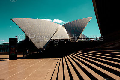 The Sydney Opera House against a Green Sky