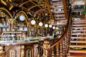 Interior of La Catedral cafe restaurant, Madrid, Spain