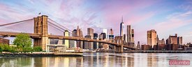 Lower Manhattan skyline panorama, New York, USA