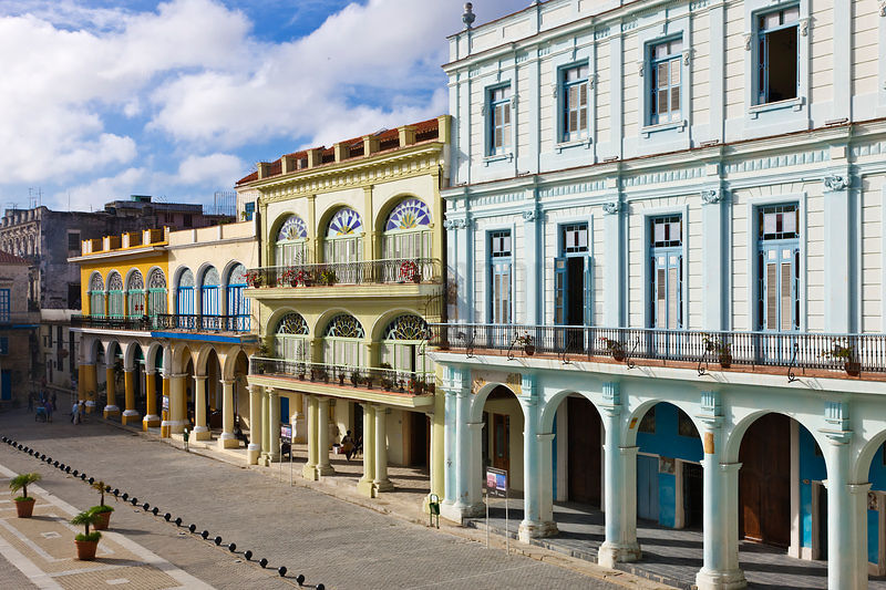 Restored Buildings at Plaza Vieja