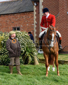 George Adams, Chris Edwards at the meet - The Cottesmore Hunt at Ladywood Lodge 28/2