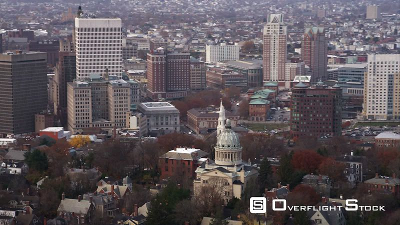 Over Providence, Rhode Island. Shot in November