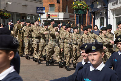 Army Cadets Marching though Banbury High Street