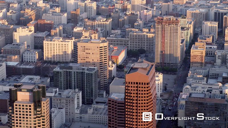 Aerial HA Cu View Of Downtown Los Angeles, RED R3D 4k California