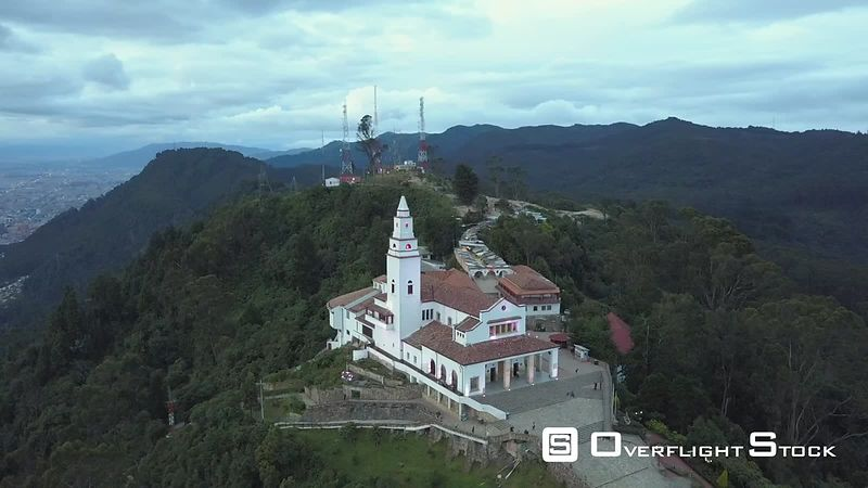 Drone Video Sanctuary of Monserrate Bogota Colombia