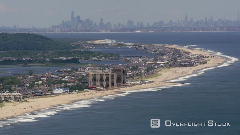 New Jersey Aerial shot of the Jersey Shore flying towards New York City.  Shot with Cineflex and RED EpicW Helium.