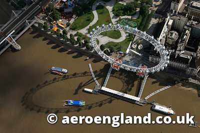 aerial photograph of the London Eye  London UK