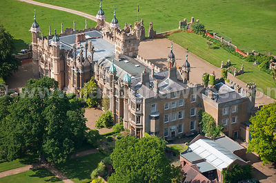 Aerial view of Knebworth House
