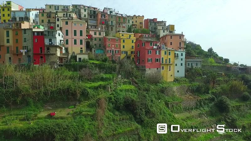 UNESCO World Heritage Site Cinque Terre Villiage Italian Riviera. Centuries old seaside village on the rugged Italian Riviera coastline.