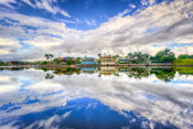 Natural mirror - sky reflections