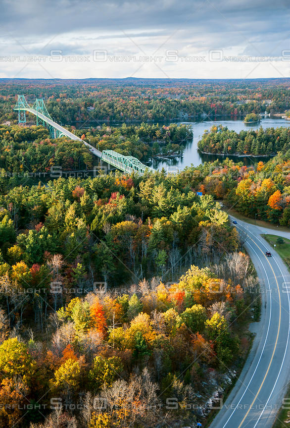 Thousand Islands, Thousand Islands Bridge, International bridge, border, New York, Ontario, Canada, USA