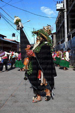 Man dressed as Dios del Lago / God of the Lake, Virgen de la Candelaria festival, Puno, Peru
