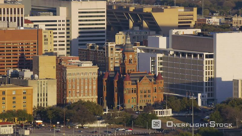 Dallas, Texas Aerial view of Old Dallas County Courthouse building