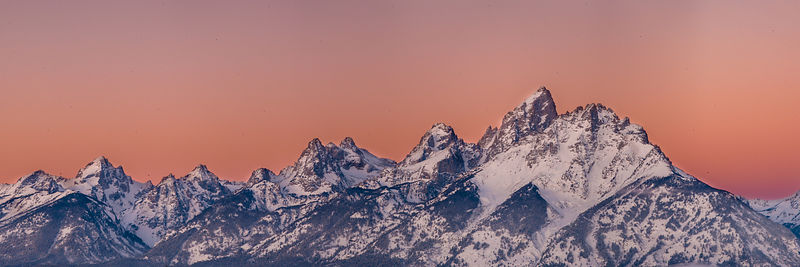 Predawn Sunrise at Teton Range