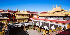 Elevated view of Jokang temple, Lhasa, Tibet