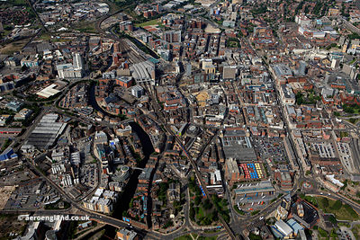 aerial photograph of Leeds Yorkshire