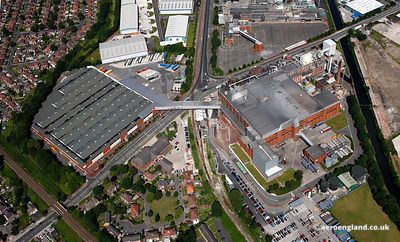 aerial photograph of the Kellogg's factory  in Trafford Park Manchester England UK