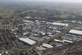 Crewe aerial photograph of Crewe Industrial Estate looking across Weston Road towards University Way in the distance