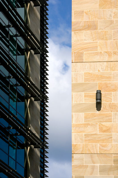 Detail shot of office buildings