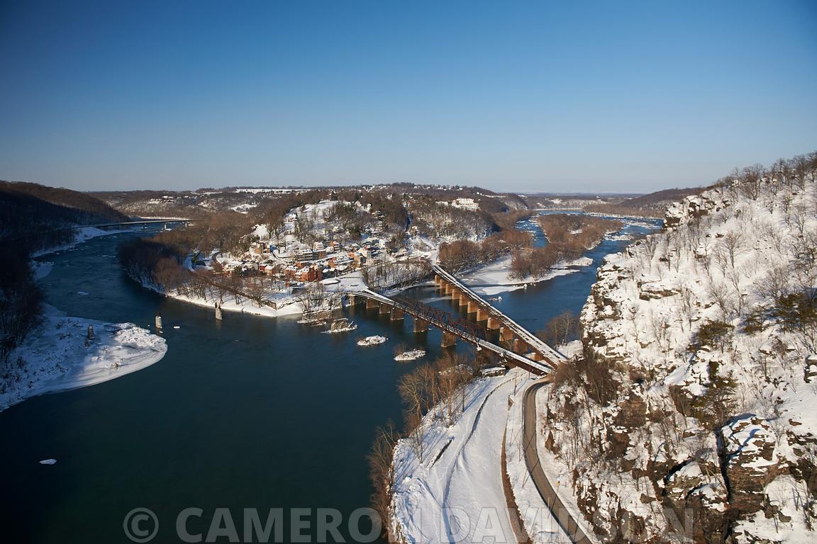 Aerial photo of Harper\'s Ferry, West Virginia