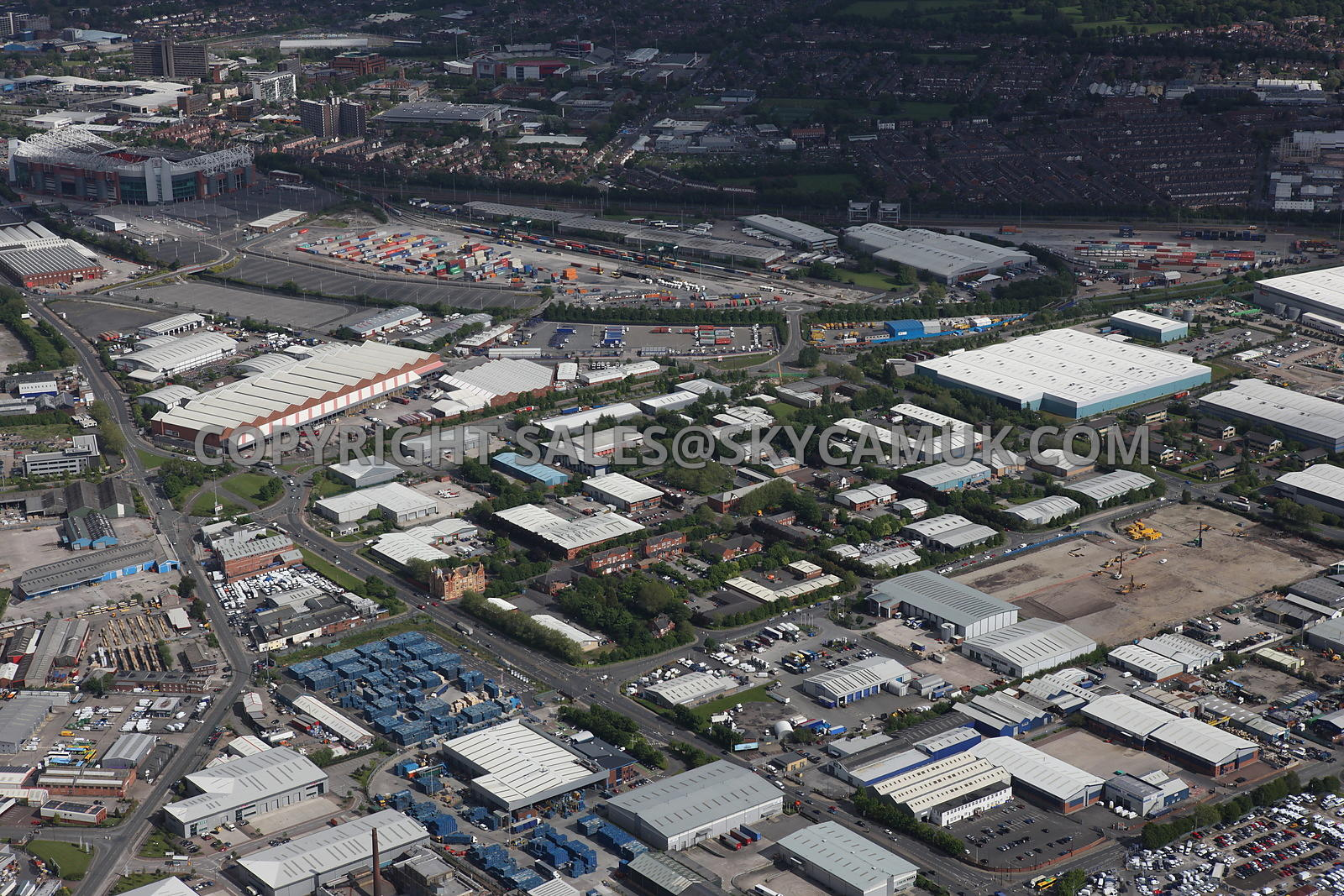 Manchester aerial photograph of the Village Trafford Park Industrial Estate
