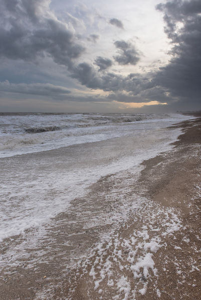 Storm Frank on Suffolk shoreline
