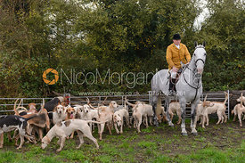 Amateur Huntsman Gerald Sumner MFH with the Kimblewick foxhounds