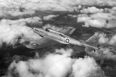 Fairey Battle in flight BW version