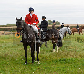 Hartley Crouch at the meet - The Cottesmore Hunt at Toft 27/10