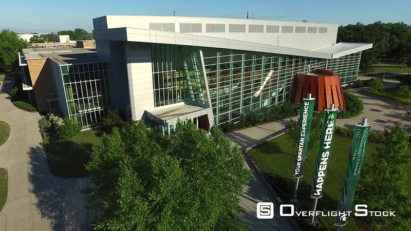 Drone Video of Michigan State University at East Lansing. Undergraduate Universtity Division