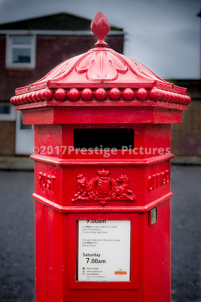 Penfold Type Hexagonal Pillar Box In Swiss Cottage London